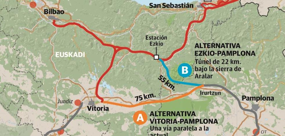 El Gobierno vasco se resiste a avalar el enlace de alta velocidad Vitoria-Pamplona