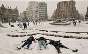 Un «brusco» cambio de tiempo podría traer de nuevo la nieve a Bizkaia