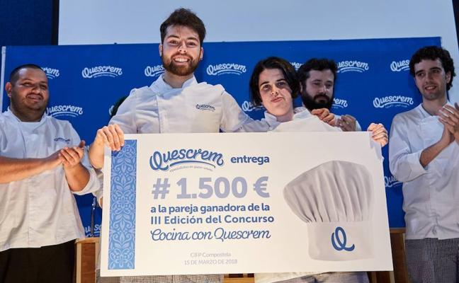 Alumnos de la escuela de hostelería de Galdakao ganan un concurso en Galicia