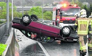 Getxo registró 398 accidentes de tráfico en 2017, un 5,7% menos que el año anterior