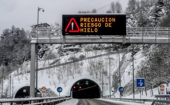 Activado el aviso amarillo por nieve para hoy y mañana en Euskadi