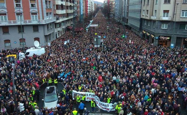 Más de 115.000 personas colapsan Bilbao para reclamar unas pensiones «dignas»