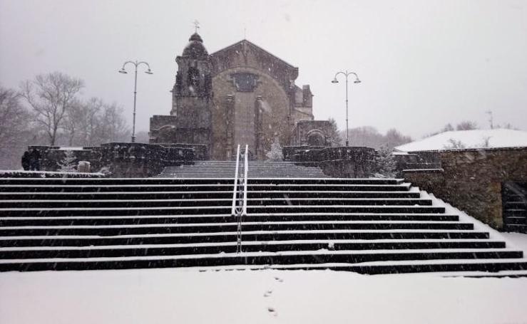Las imágenes del regreso de la nieve a Bizkaia