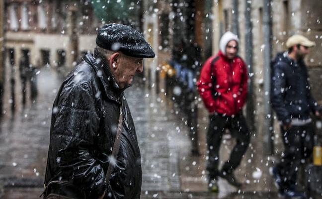 El temporal se recrudece: alerta naranja por nieve a 200 metros esta tarde-noche en Álava