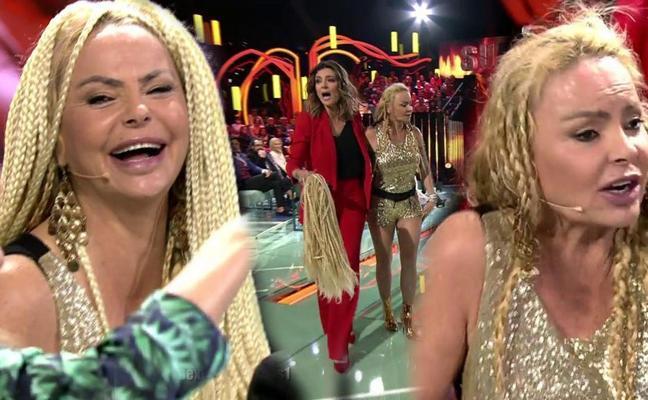 Arrancan la peluca en directo a Leticia Sabater