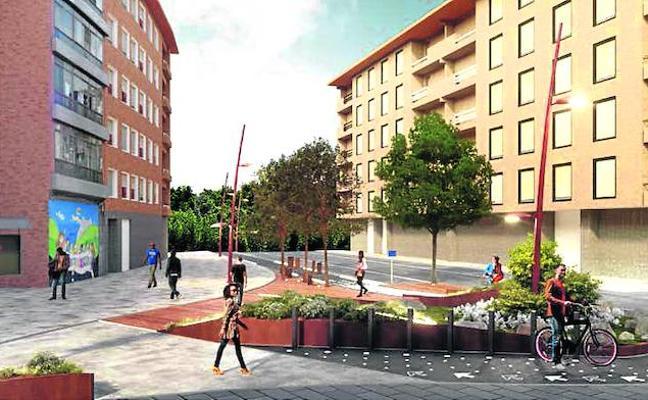 Un pequeño parque presidirá la entrada al casco urbano de Iurreta