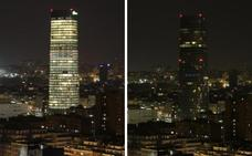 La Torre Iberdrola, el Guggenheim, San Mamés... Bilbao se suma al apagón mundial contra el cambio climático