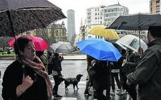 Las lluvias solo darán un respiro a Bizkaia el martes a la tarde y la mañana del miércoles