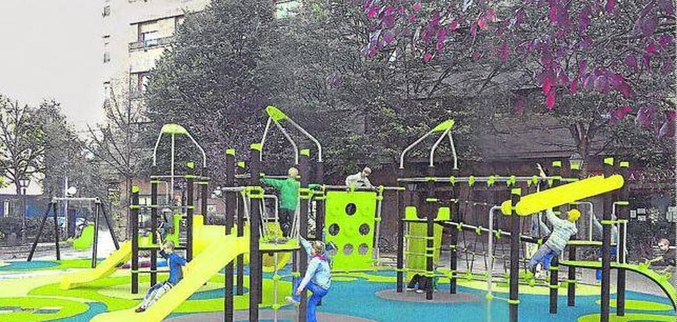 Torres y toboganes para los niños del barrio vitoriano de Aranzábal