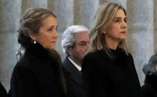Cristina de Borbón, en la misa por Don Juan, presidida por los Reyes