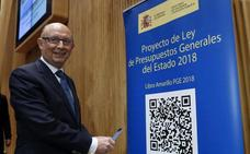 Los Presupuestos de Rajoy prevén 509 millones de inversión a Euskadi, un 32% más