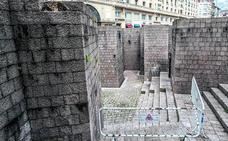 Problemas en la estructura de la plaza de Los Fueros provocan su cierre parcial