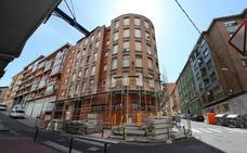 Arranca la renovación de las fachadas de 14 portales de la parte baja de Sestao
