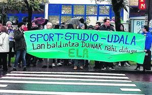 La huelga de los monitores afectó al 75% los cursos deportivos de Getxo
