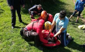 Rescatado en helicóptero tras sufrir una caída en el Serantes