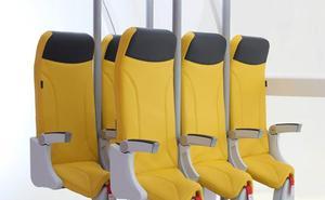 Prepárate para viajar en avión de pie: llegan los asientos verticales