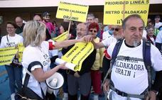 Vecinos de Galdakao se movilizan para reclamar la construcción de la Línea 5