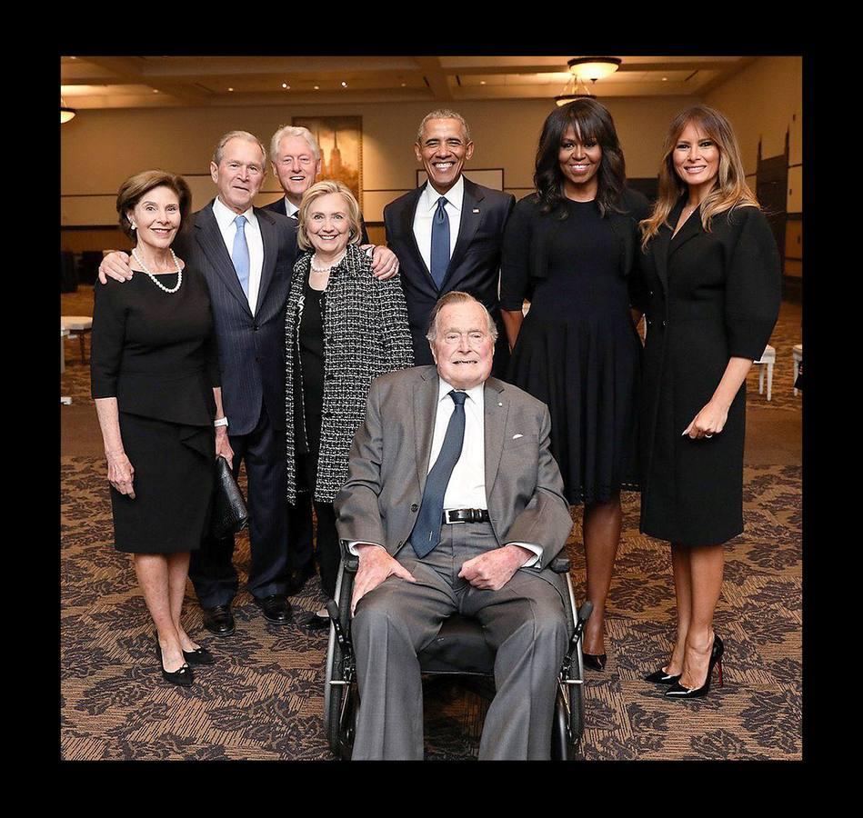 Expresidentes, familiares y amigos acuden al funeral de Barbara Bush