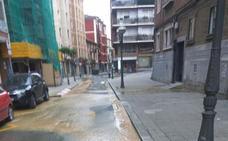 Recuperado el suministro de agua en Santutxu tras romperse una tubería