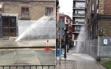 La rotura de otra tubería vuelve a dejar sin agua a decenas de vecinos de Santutxu