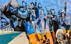 Las mujeres, referentes a todo color en el nuevo mural de Judimendi