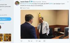 Puigdemont dice que Torra convocará elecciones en cinco meses si el Estado «sigue la persecución»