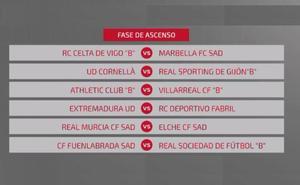 Playoffs ascenso a Segunda División A: emparejamientos
