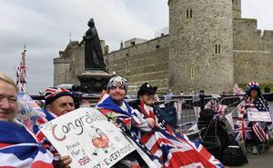 El júbilo por la boda del príncipe Enrique y Meghan Markle ya se hace visible en Inglaterra