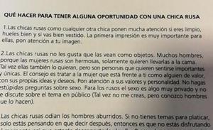 Polémica en Argentina: La AFA da consejos a los periodistas para ligar con mujeres rusas en el Mundial