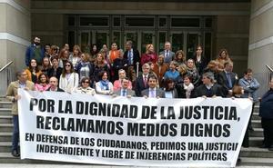 Jueces y fiscales se concentran en Bilbao con vistas a la huelga del martes
