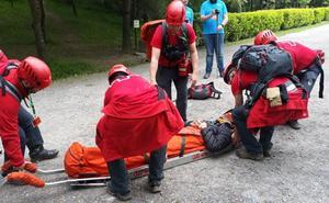 50 profesionales se despliegan en Arrigorriaga para un simulacro de rescate