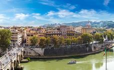 Ovejas cortacésped en Roma