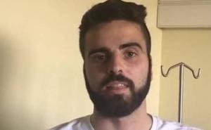Pelayo, jugador del Albacete, tras caer de un balcón: «Ha empezado una nueva vida para mí»