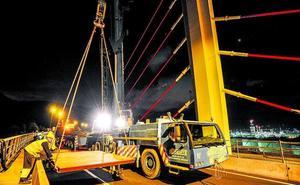 La reforma del puente de La Arena acabará este mes después de dos años de obras