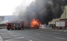 La secuencia del incendio del camión