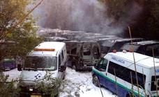 En libertad con cargos el sospechoso de la quema de 35 ambulancias en Arrigorriaga