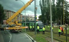Una avería interrumpe dos horas el servicio del tranvía en Vitoria