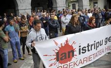 Protesta en Orozko por la muerte de un trabajador el martes en accidente laboral