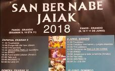 Programa de fiestas de San Bernabé 2018 en Erandio (Fanos)