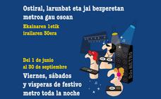 El Metro de Bilbao amplía su horario en verano