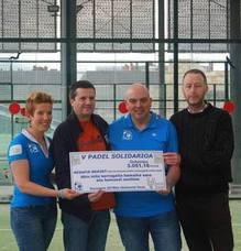 El club de pádel Fair Play Durango dona 3.051 euros a Desafía Dravet