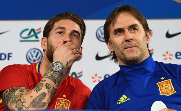 Ramos reafirma el compromiso de España tras salida de Lopetegui