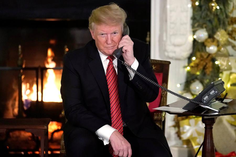 Trump, a un niño de siete años ¿Aún crees en Santa?