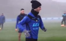 Burgui regresa a los entrenamientos del Alavés