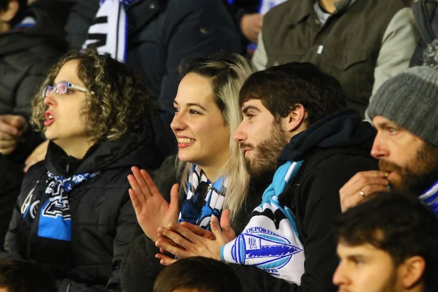 La afición albiazul se vuelca con el Alavés en el partido contra el Deportivo