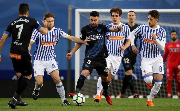 Las mejores fotos del partido entre Real Sociedad y Deportivo Alavés