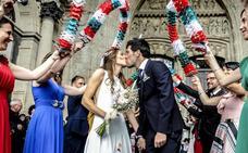 La romántica boda de Manu García y Noelia en Vitoria