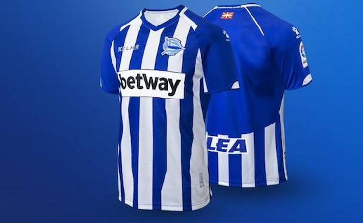 Así son las nuevas camisetas del Deportivo Alavés