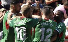 Primera vez que el Alavés marca cinco goles en Primera