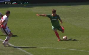Ibai muestra su calidad en el segundo gol albiazul